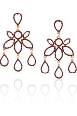 Oscar de la Renta 24karat Goldplated Crystal Earrings - Lyst
