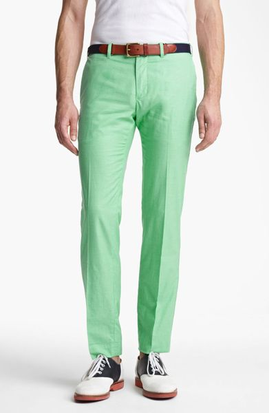green polo pants