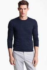 Pringle of Scotland Silk Cotton Crewneck Sweater - Lyst