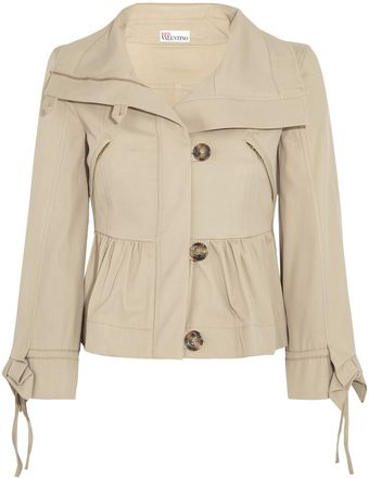 RED Valentino Stretch Cotton Twill Jacket - Lyst