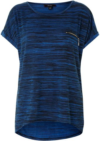 Therapy Knitted Tee with Zip Detail - Lyst