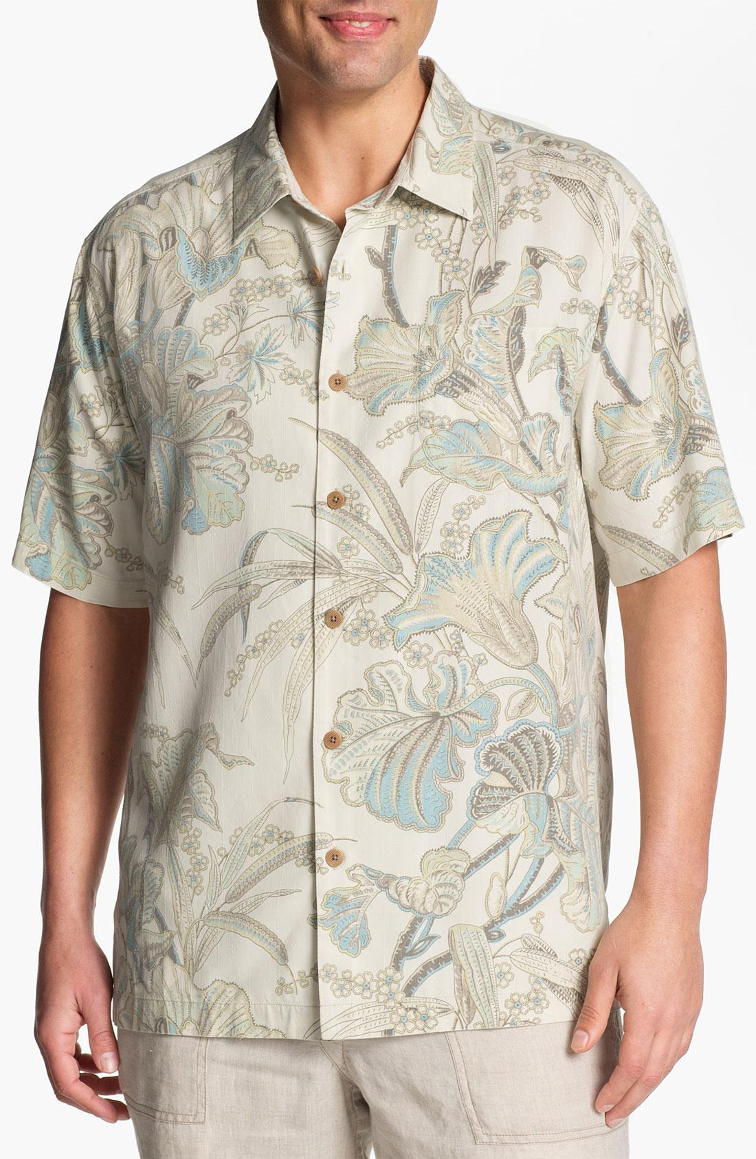 Tommy Bahama Botanica Bay Silk Campshirt Big Tall In