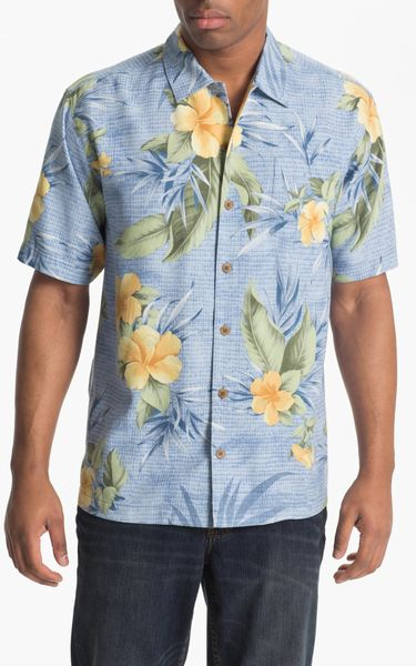 Tommy Bahama Tropical Mosaic Silk Campshirt Big Tall In