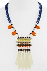 Topshop Shard Bead Statement Necklace - Lyst