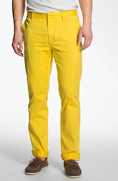 Victorinox Nalden Chinos In Yellow For Men Sub Yellow Lyst