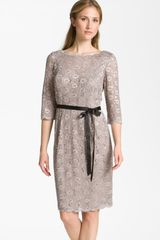 Alex Evenings Embellished Lace Overlay Dress - Lyst