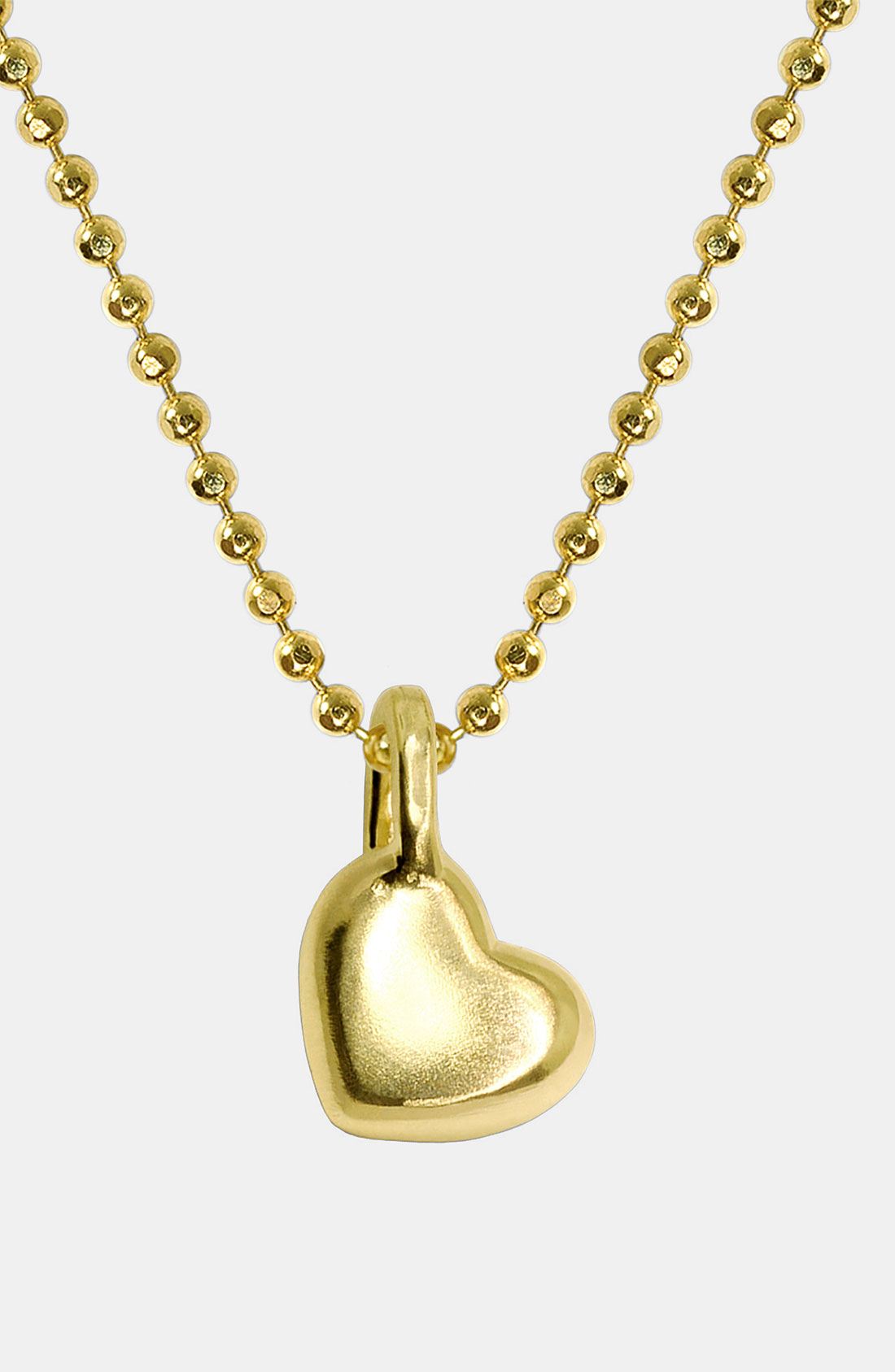 Lyst - Alex woo Mini Heart 14k Gold Pendant Necklace in Yellow