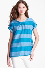 Burberry Brit Stripe Silk Blouse Online Exclusive - Lyst