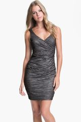 Calvin Klein Taffeta Sheath Dress - Lyst