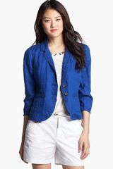 Caslon® Two Button Linen Jacket - Lyst