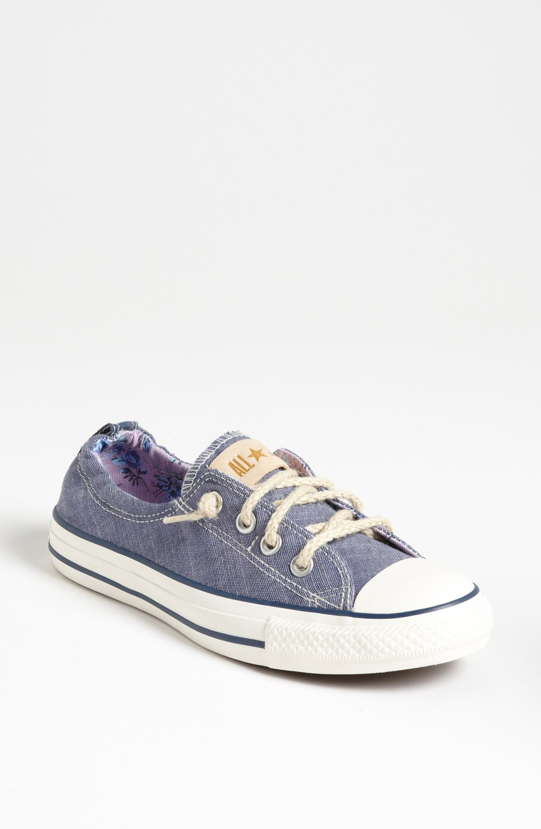 converse chuck taylor shoreline sneaker women in blue dark denim lyst. Black Bedroom Furniture Sets. Home Design Ideas