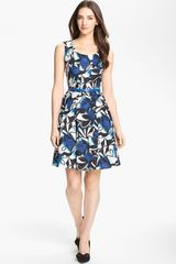 Donna Ricco Print Fit Flare Dress - Lyst