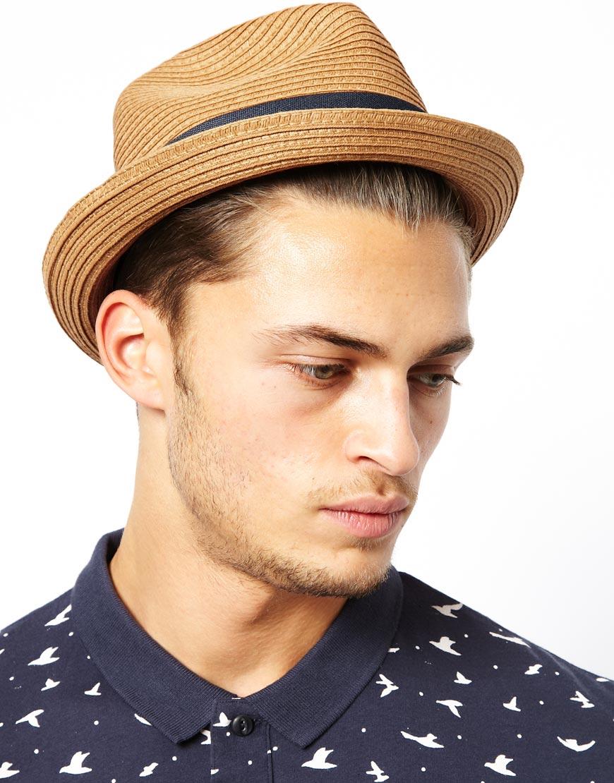32cd5d247abee Esprit Straw Porkpie Hat in Black for Men - Lyst