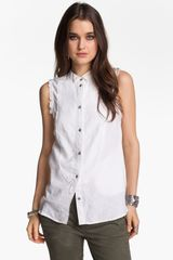 Free People Sleeveless Shirt - Lyst