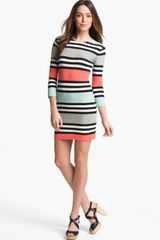 French Connection Jag Multi Stripe Jersey Dress - Lyst