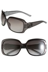 Gucci 61mm Square Frame Sunglasses - Lyst