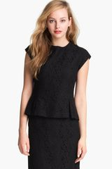Halogen Lace Peplum Top - Lyst