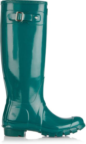Hunter Original Tall Wellington Boots In Green Turquoise