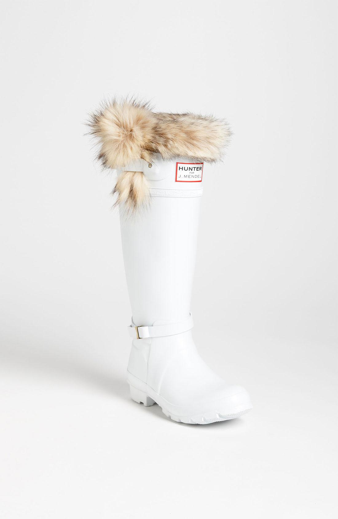 Hunter For J Mendel Genuine Fur Trim Boot In White Lyst