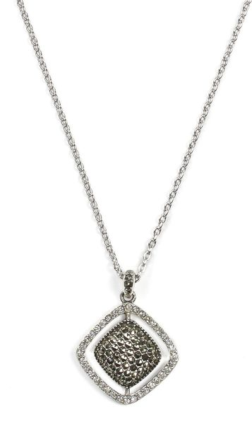 judith cushion marcasite pendant necklace in silver