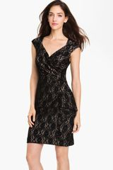 Maggy London Surplice Lace Sheath Dress - Lyst
