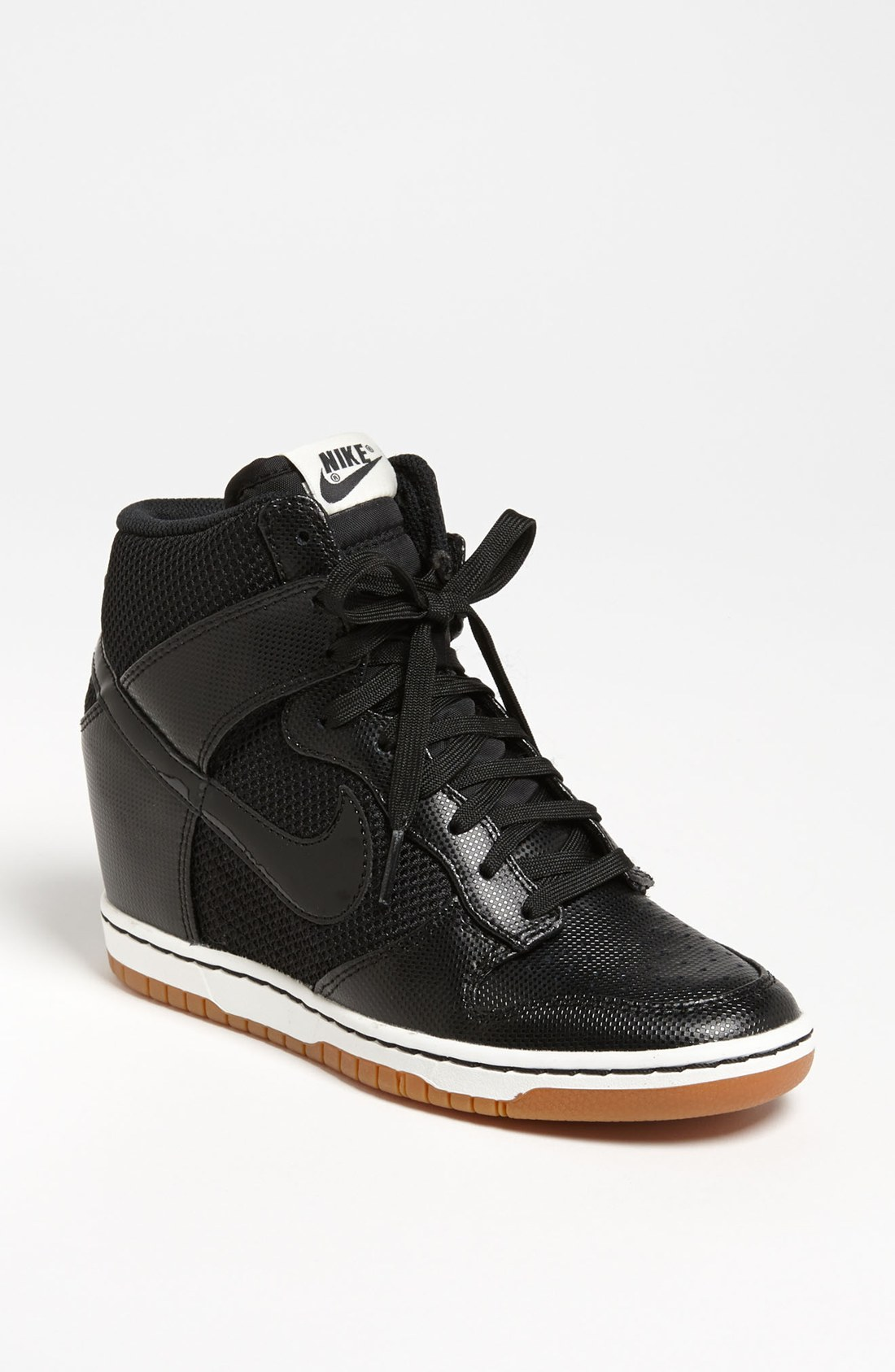 nike wedge sneakers black leather. Black Bedroom Furniture Sets. Home Design Ideas