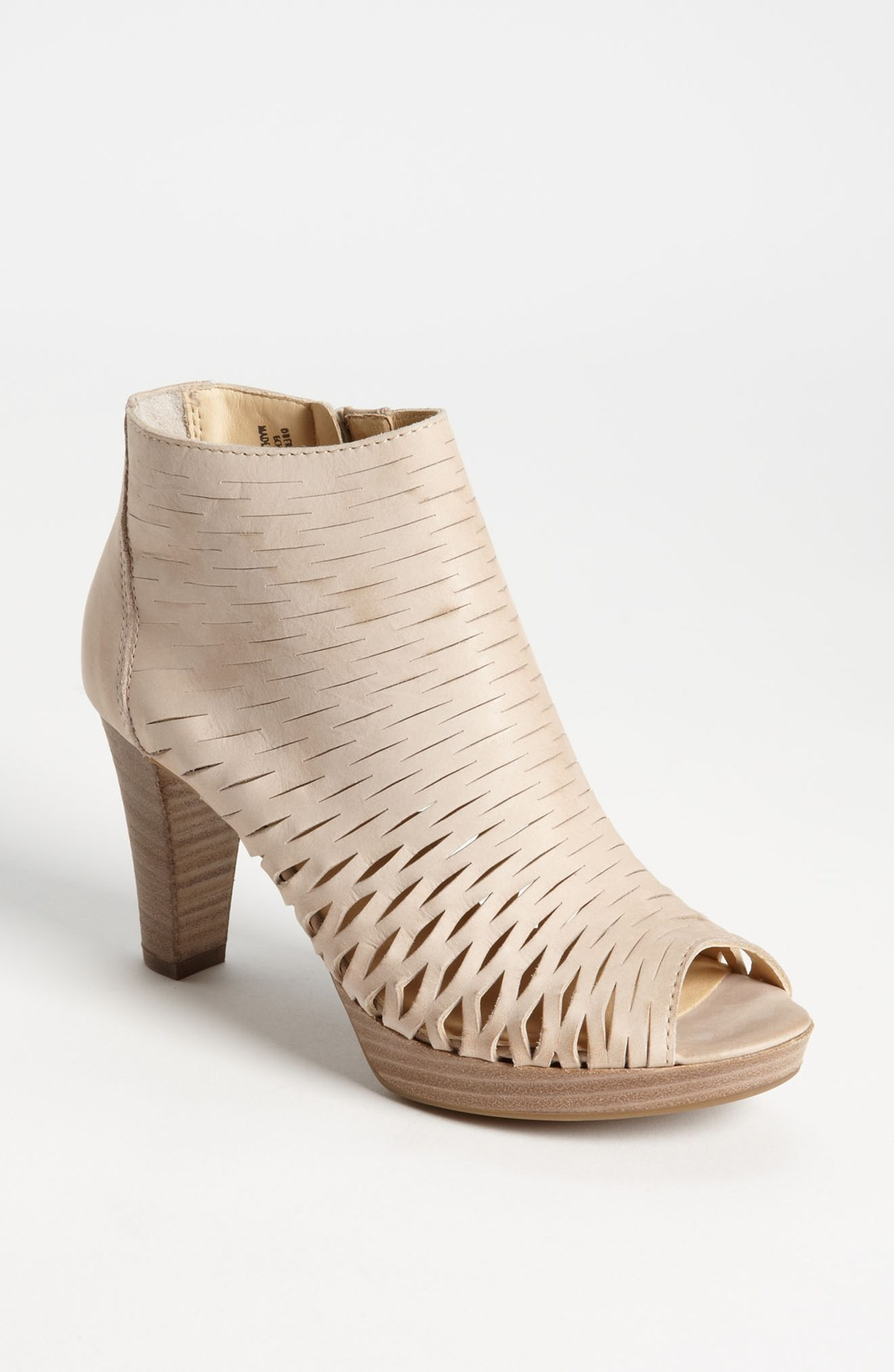 Paul Green Pandora Peep Toe Bootie In Beige Cream Lyst