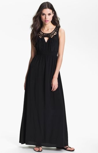 Presley Skye Silk Maxi Dress - Lyst