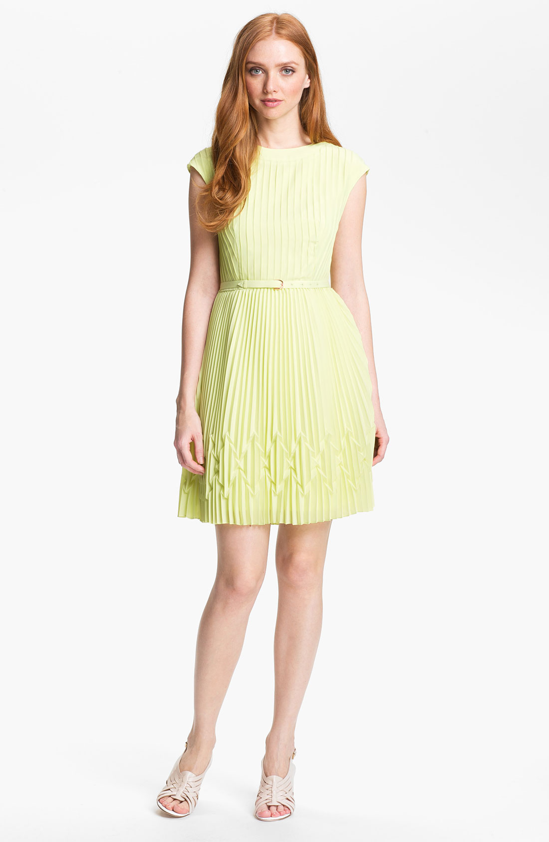 Ted Baker Pleated Fit Flare Dress Online Exclusive In