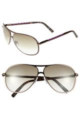 Tod's Woven Leather Temple Aviator Sunglasses - Lyst