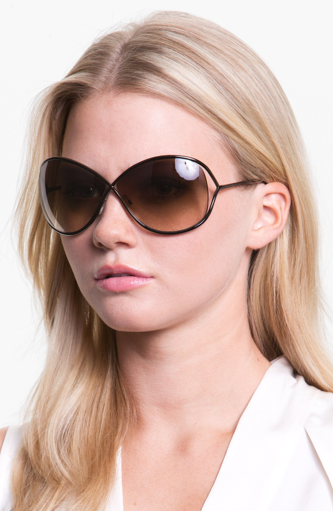 tom ford miranda 68mm open temple metal sunglasses in gold bronze. Cars Review. Best American Auto & Cars Review