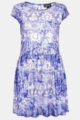 Topshop China Lace Dress - Lyst