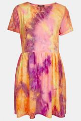 Topshop Tie Dye Dress - Lyst