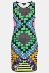 Topshop African Party Bodycon Dress - Lyst