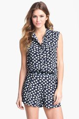 Two By Vince Camuto Sleeveless Floral Shirt - Lyst