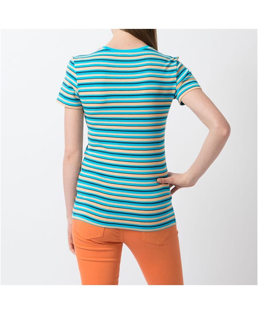 Uniqlo premium cotton striped crew neck short sleeve t for Uniqlo premium t shirt