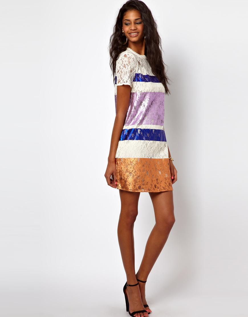 Cream lace t-shirt dress