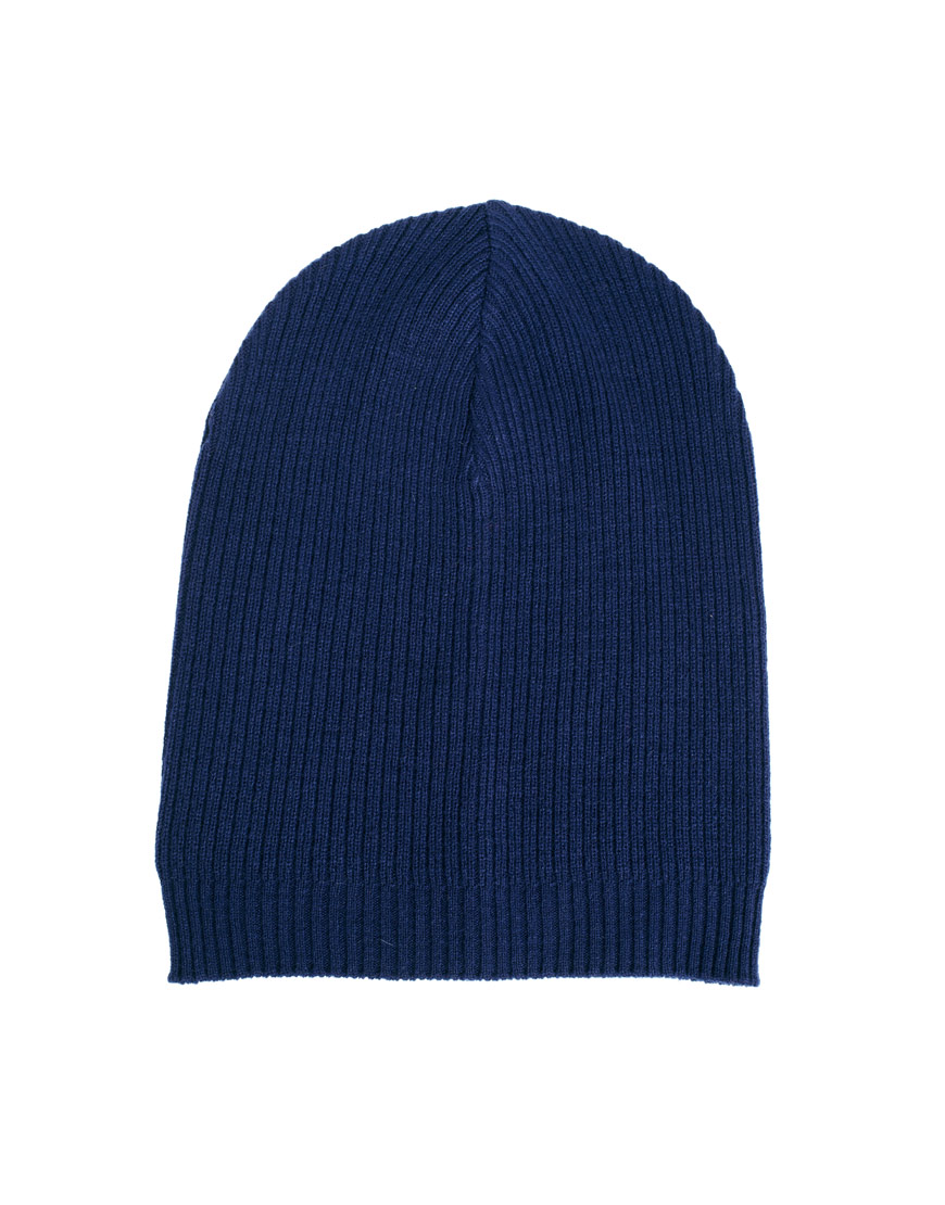 Fred Perry Asos Slouchy Beanie Hat In Blue For Men Lyst