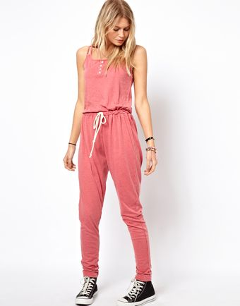 Asos Onesie in Acid Wash with Strap Detail - Lyst