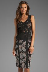 BCBGMAXAZRIA Runway Floral Dress in Black - Lyst