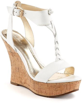 Belle By Sigerson Morrison Bela Leather Platform Cork Wedge Sandals - Lyst