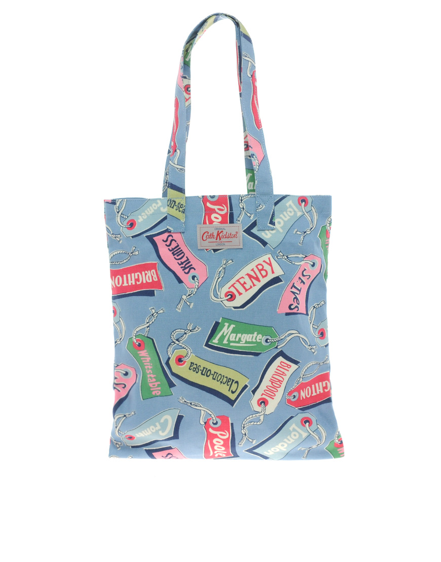 Cath kidston Cotton Book Bag in Blue | Lyst
