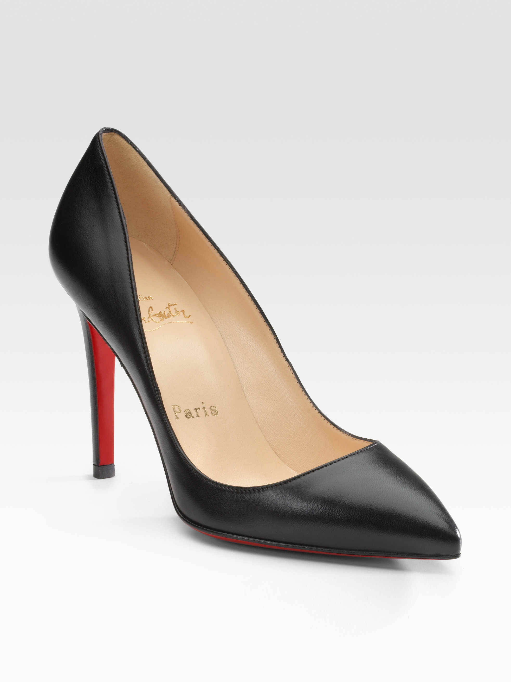 d12aadfb69c Gallery. Previously sold at  Saks Fifth Avenue · Women s Christian  Louboutin Pigalle Women s Gold Glitter Shoes ...