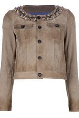 DSquared2 Embellished Leather Jacket - Lyst