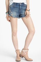 Free People Tulum Vintage Denim Cutoff Shorts True Blue - Lyst