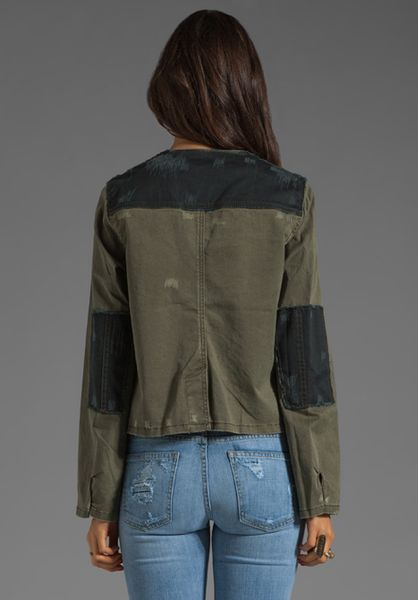 Free People Military Jacket In Green Olive Lyst