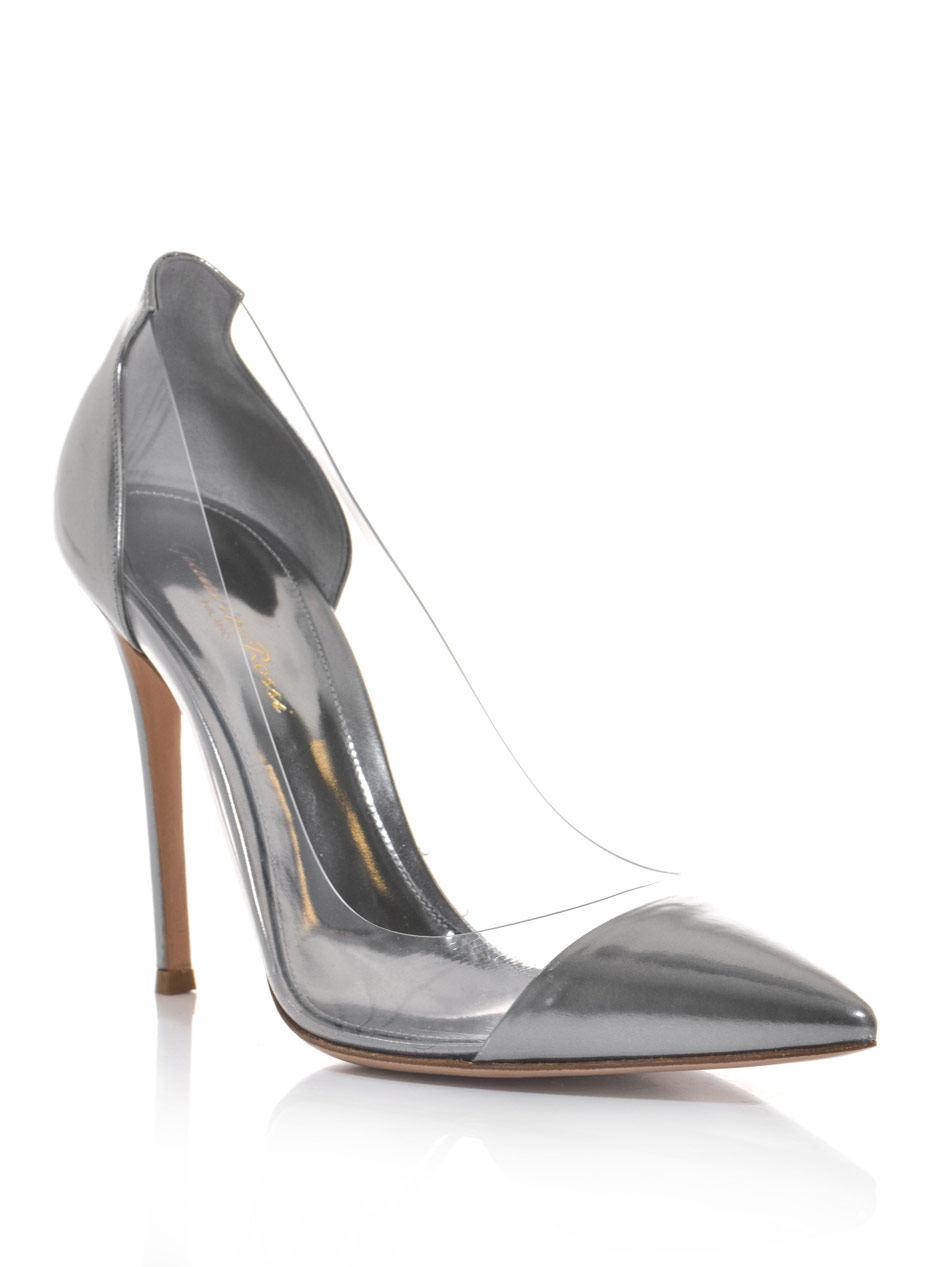 Lyst Gianvito Rossi Exclusive Leather And Pvc Pumps In