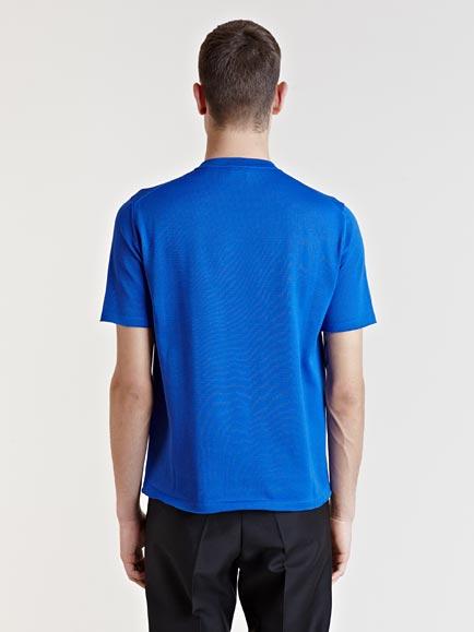 Jil sander mens knitted tshirt in blue for men lyst for Jil sander mens shirt