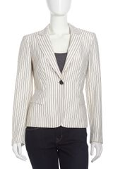 Lafayette 148 New York Raffia Lyon Striped Jacket  - Lyst