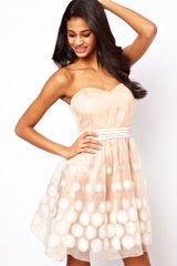 Little Mistress Floral Organza Bandeau Prom Dress - Lyst